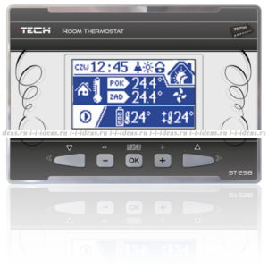 TECH ST-298 проводной комнатный регулятор со связью RS