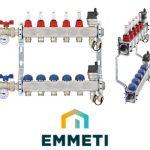 """EMMETI коллектор нержавеющий с расходомером Topway S Compact  1""""x3/4″"""