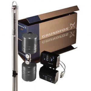 Глубинный насос Grundfos SQE 2-115 + CU 301 (+80 м кабеля)