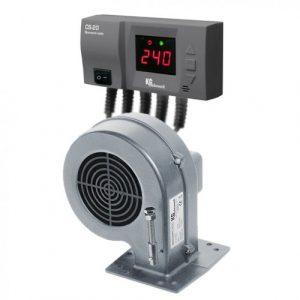 KG Electronik автоматика SP-05 LED +вентилятор DP-02 для твердотопливных котлов