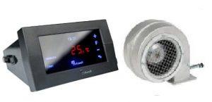 KG Elektronik автоматика CS-19 +вентилятор DP-120 для твердотопливных котлов