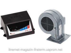 KG Elektronik автоматика SP-05 LED +вентилятор DP-02 для твердотопливных котлов