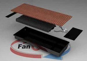 Внутрипольный конвектор FanCOil FCF 75