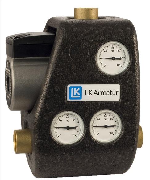 LK Armatur 810 ThermoMat G 65°C 1″ c обратным клапаном