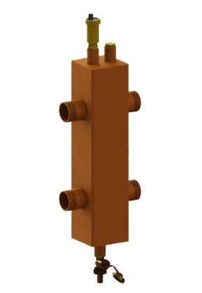 Гидрострелка ОГС-Р-3 (до 51 кВт) 1″