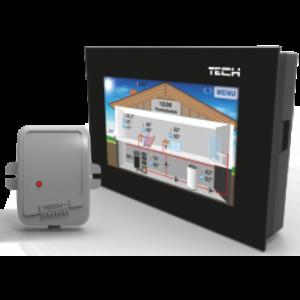 TECH ST-281 C безпроводной комнатный регулятор со связью RS (2мм СКЛО)