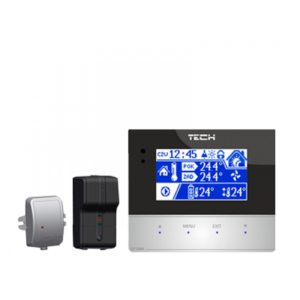 TECH ST-296 + ST-260 безпроводной комнатный регулятор со связью RS (3мм СКЛО)