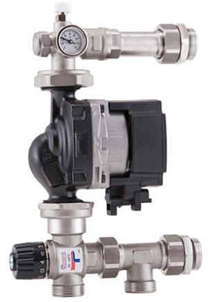 Устанавливающий узел с термостатическим смесительным клапаном 20-43 ° C, G 1 M (без насоса)