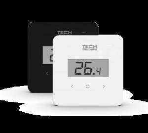 Беспроводной комнатный терморегулятор с датчиком влажности TECH R-8b plus