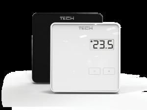Беспроводной комнатный терморегулятор с датчиком влажности TECH R-8bw
