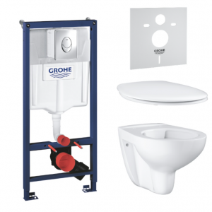 Комплект Grohe Bau Ceramic, инсталляционная система с подвесным унитазом