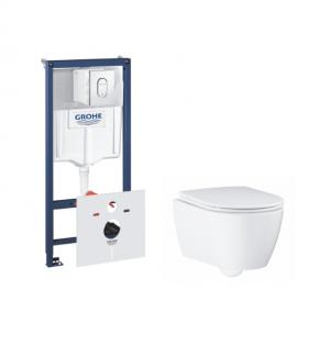 Комплект Grohe Essence Ceramic, инсталляционная система с подвесным унитазом