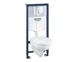 Набор Grohe Solido Perfect 4 в 1 – инсталяция с подвесным унитазом в комплекте с сидением