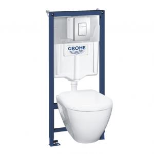 Набор Grohe Solido Perfect 4 в 1 – инсталяция с подвесным унитазом в комплекте с сидением Soft