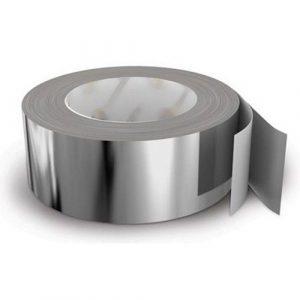Скотч алюминиевый термостойкий 50м