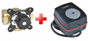 veXve 3-ход. смесительный клапан AMV + ESBE електропривод ARA561 120c/90˚